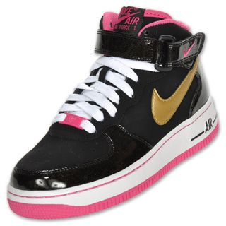 Nike Kids Air Force 1 Mid Basketball Shoes  FinishLine  Black