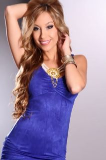 Royal Blue Sleeveless Ruched Sexy Party Dress @ Amiclubwear sexy