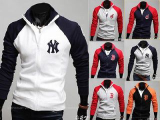 Mens Stylish Slim Fit Baseball Sports Coats Jackets Sweats & Hoodies