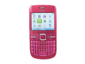 Nokia C3 00 Pink Unlocked GSM Smart Phone w/ Full QWERTY Keyboard / Wi
