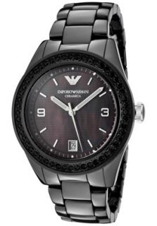 Emporio Armani AR1423 Watches,Black Crystal Black Mother Of Pearl
