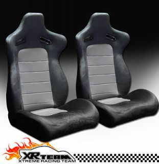 Grey Reclinable Racing Seats+Sliders 14 (Fits Jeep Grand Cherokee