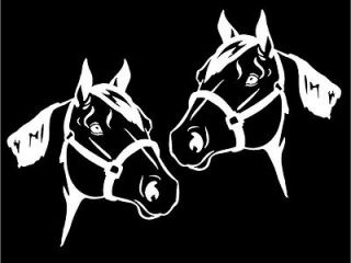 Horse Heads Mirrored car window laptop trailer decal sticker graphics