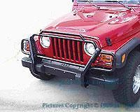 New Black Jeep Wrangler TJ Brush Grille Guard