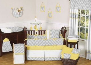 GRAY YELLOW GENDER NEUTRAL BABY CRIB BEDDING SET FOR GIRL BOY SWEET