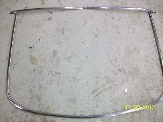 65 66 FORD MUSTANG GT FASTBACK REAR GLASS STAINLESS TRIM 289 HIPO