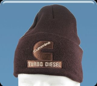 Dodge Ram Cummins Turbo Diesel beanie hat cap in brown