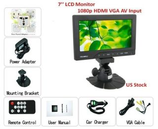 DSLR HD 1080p HDMI Video RCA AV VGA LED LCD Monitor Cam On Camera