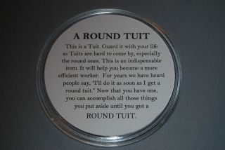 Round Tuit Grand dad   Birthday   Fathers Day   Christmas gift