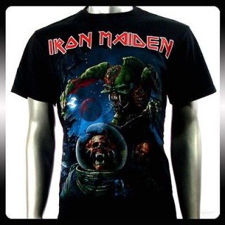 Iron Maiden Heavy Metal Rock Men Punk T shirt Sz L