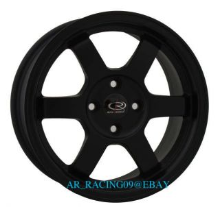 15 ROTA RIMS GRID BLACK CIVIC DEL SOL INTEGRA FIT CRX