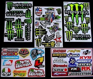 Sheets STICKERS PIT BIKE scooter TOOL BOX MOPED MOTOCROSS energy BMX