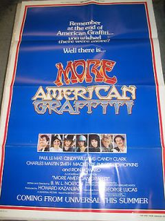 AMERICAN GRAFFITI * CineMasterpiec​es LINEN BACKED 1SH ORIGINAL