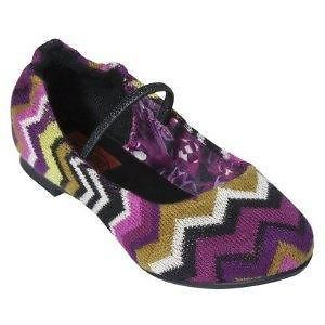 Girls Toddler Missoni Fushia Zig Zag Ballet Flat Slipper Shoes 10 11
