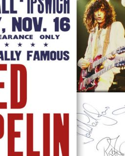 led zeppelin autograph in Entertainment Memorabilia