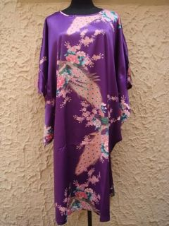 purple white pink green rose red Chinese womens silk bathrobe/gown