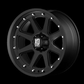 20 Inch Black Addict RIMS 8 LUG Wheel Chevy GMC Ford Truck 8x6.5