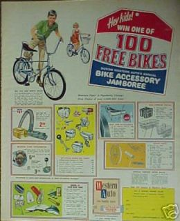 Western Auto Bike Accessory Jamboree Boys~Girls Bicycle Parts Trade AD