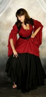 RENAISSANCE Pirate Wench Costume Cotton TURKISH VEST Bodice NEW