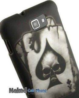 BLACK POCKET ACE SPADE SKULL CASE COVER FOR SAMSUNG GALAXY NOTE PHONE