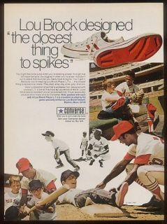 1971 converse all star shoes lou brock photo ad expedited