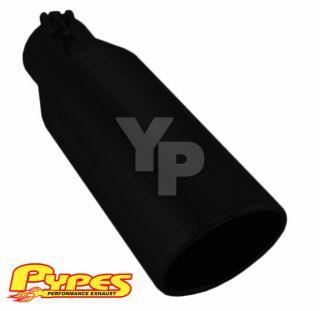 GMC Pypes Diesel Truck 3.5 In 4.5 Out 12 Long Black Exhaust Tip