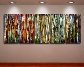 Metal Modern Abstract Wall Art Painting Large Panel original canva