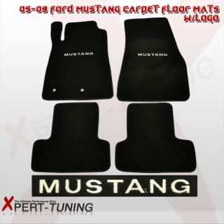 09 FORD MUSTANG CARPET FLOOR MATS FRONT AND REAR 4PCS W/LOGO BRAND NEW