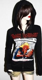 Iron Maiden Heavy Metal rock DIY Slim Fit Hoodie Jacket Top Shirt
