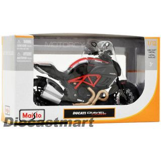 MAISTO 112 DUCATI DIAVEL CARBON NEW DIECAST MODEL MOTORCYCLE BLACK