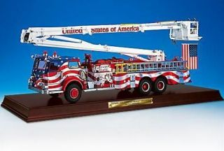 Franklin Mint Stars and Stripes Snorkle Fire Engine diecast model