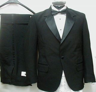 new mens 1 button tuxedo suit tux shirt 48 short s 48s