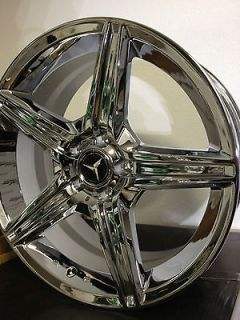19 Inch Triple Chrome Mercedes AMG Factory OE Wheels Rims C55 C63 19x8