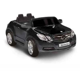 Ride On Toy Truck Vehicle Black Mercedes Benz E550 Kids Electric Car