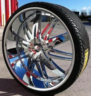 24 INCH WHEELS & TIRES HOYO 7 FORD F 150 2007 2008 2009 2010 2011 2012