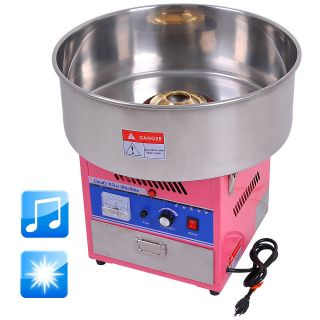 Pink Commercial Electric LED Cotton Candy Machine Floss Maker Party