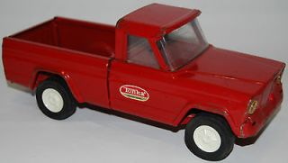 vintage tonka jeep red pickup truck 1960s mound minnesota time