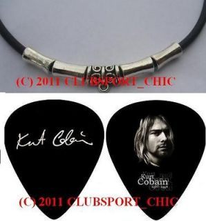 kurt cobain nirvana rip signed guitar pick necklace from australia