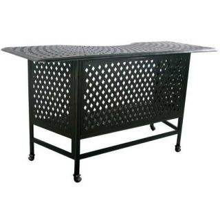 series 60 antiqued bronze 7ft outdoor bar table
