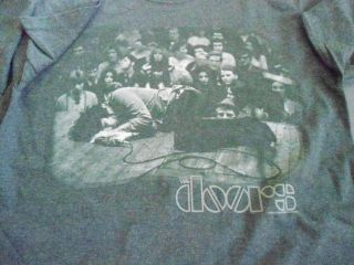 Jim Morrison Exhausted the Gray T Shirt **NEW band concert music tour