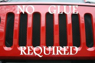 Mesh Grille Guard Kit (Fits 2008 Jeep Wrangler Unlimited Sahara