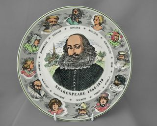 Royal Doulton vintage china decorative plate, Shakespeare c1960 70s