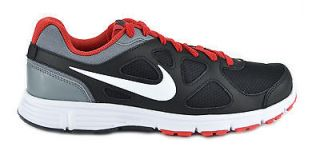 NIKE REVOLUTION BLACK/WHITE/RE​D/GREY MENS RUNNING SNEAKERS SHOES