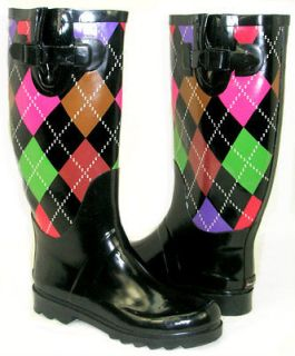 Flat GALOSHES WELLIES RUBBER RAIN Boot Riding Hunter Style ALL SIZE