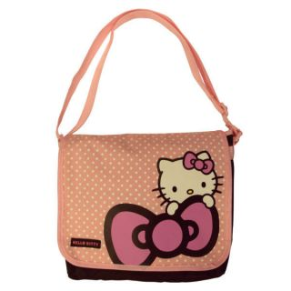 Hello Kitty Dots Kids Messenger Bag Shoulder Cross Body Satchel