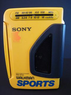SONY SPORTS WM AF54 Walkman Radio Cassette Player TESTED  See Photos