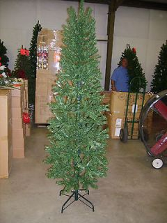 CLEARANCE SALE 7.5 FOOT SLIM PENCIL PINE CHRISTMAS TREE 7 1/2 FT