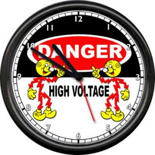 Reddy Kilowatt Electrician Utility Danger High Voltage Wire Sign Wall