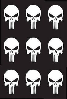 PUNISHER MINI 2 SKULL BONEHEAD VINYL DECAL STICKER IPOD IPHONE CAR