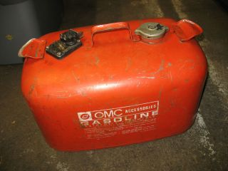 omc johnson evinrude steel gas fuel petrol metal gas tank